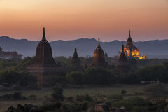 Sunrise over temples of Bagan Royalty Free Stock Photo