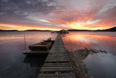 Free Sunrise Over The Brisbane Waters At Woy Woy With Paddy S Oyster Stock Photo - 42974010
