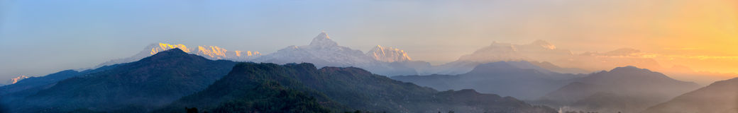 Sunrise Over The Himalaya Mountains Stock Images