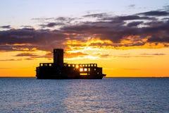 Sunrise over the torpedo Royalty Free Stock Images