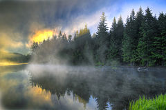 Sunrise Over Trillium Lake Oregon Royalty Free Stock Photo