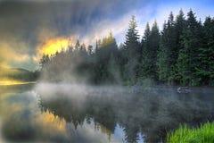 Sunrise Over Trillium Lake Oregon Royalty Free Stock Photo