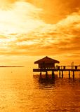 Sunrise over tropical lake Royalty Free Stock Photography