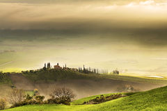 Sunrise over Tuscany. A picture taken in early spring, in Val dOrcia, Tuscany, at sunrise Royalty Free Stock Photography