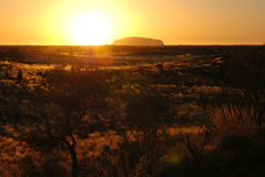 Sunrise over Uluru (Ayers Rock) Stock Photography