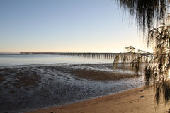 Sunrise over Urangan Pier. Hervey Bay, Queensland, Australia Royalty Free Stock Image