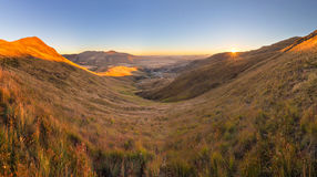 Sunrise over the valley Royalty Free Stock Photography