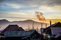 Sunrise over the village Royalty Free Stock Image