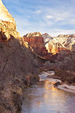 Sunrise over the Virgin River Royalty Free Stock Photography