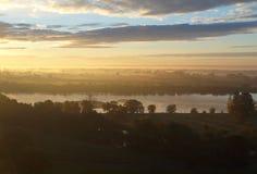 Sunrise over the Vistula River. Stock Photo