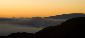 Sunrise over Volcano Royalty Free Stock Photos