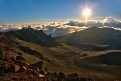 Sunrise over the volcano Stock Image