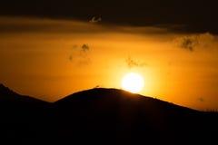 Sunrise Over volcanoes of Kamchatka Peninsula Royalty Free Stock Images
