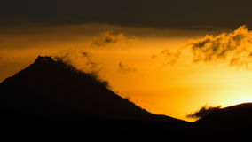 Sunrise Over volcanoes of Kamchatka Peninsula Stock Photography