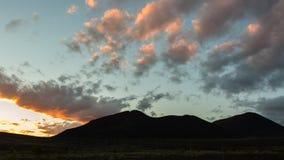 Sunrise Over volcanoes of Kamchatka Peninsula Royalty Free Stock Photography