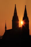 Sunrise over Vysehrad Stock Photo