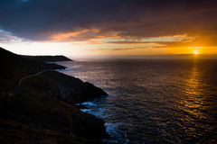 Sunrise over the Wales Coast Path Royalty Free Stock Photography