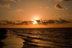 Sunrise over Water. The Sunrise over the water in St. Simon Georgia Royalty Free Stock Image