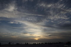 Sunrise over waterfront, Sarasota, Florida Royalty Free Stock Photography