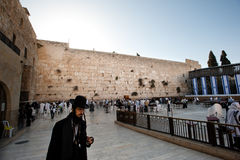 Sunrise Over Western Wall Stock Photo