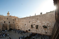Sunrise Over Western Wall Royalty Free Stock Photos