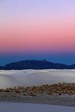 Sunrise over White Sands, New Mexico Stock Photography