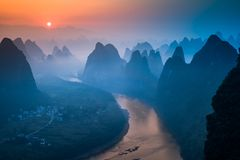 Xianggong Hill, Guilin Stock Photos