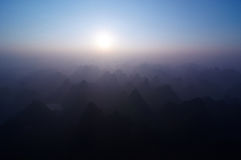 Sunrise over Yangshuo Stock Image