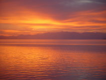 Sunrise over Yellowstone Lake Royalty Free Stock Image
