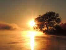 Sunrise over Zambezi Royalty Free Stock Photography