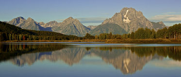 Sunrise at Oxbow Bend Royalty Free Stock Photography