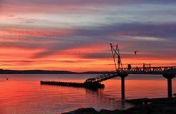 Sunrise in Pacific Ocean, Ladysmith, Vancouver Island, British Colombia Stock Photo
