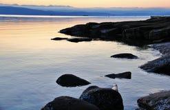 Sunrise in Pacific Ocean, Ladysmith, Vancouver Island, British Colombia Stock Image