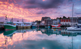 Sunrise at Padstow Stock Photo