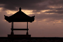 Sunrise on the pagoda Royalty Free Stock Photos