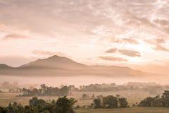 Sunrise at Pai, Thailand Royalty Free Stock Photo