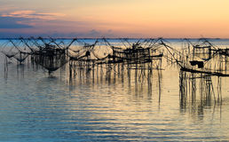 Sunrise at Pakpra,Talay noi Lake, Phatthalung Province, Thailand. Stock Images