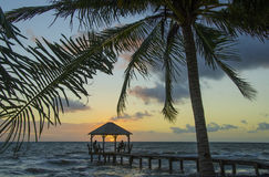 Sunrise Palapa Royalty Free Stock Photo