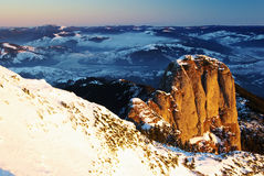 Sunrise on Panaghia peak Stock Image