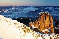 Sunrise on Panaghia peak stock image