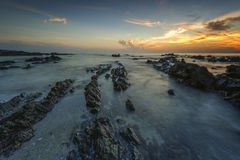 Sunrise at Pandak Beach Stock Photography
