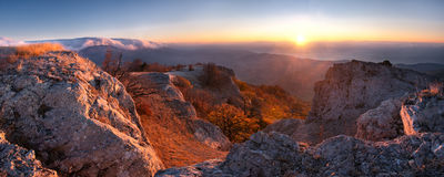 Sunrise panorama Stock Images