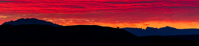 Sunrise Panorama in Grand Teton National Park Royalty Free Stock Photos
