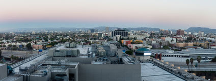 Sunrise panorama skyline in Los Angeles Stock Photography