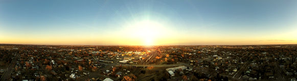 Sunrise Panoramic of Mitchell, SD Stock Photo