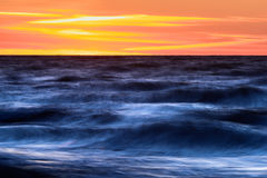 Sunrise. Panoramic view of the ocean at sunrise Stock Photos