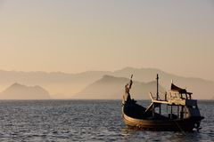 Sunrise at Papuma Beach, Indonesia Royalty Free Stock Images