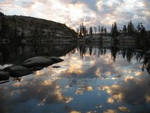 Sunrise on Paradise lake royalty free stock image