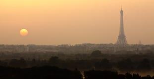 Sunrise on Paris Royalty Free Stock Photography