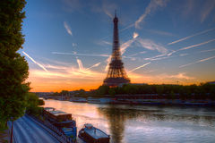 Sunrise in Paris Royalty Free Stock Images